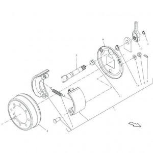 008 Remmodule enkele as passend voor DEUTZ-FAHR BIGMASTER 578
