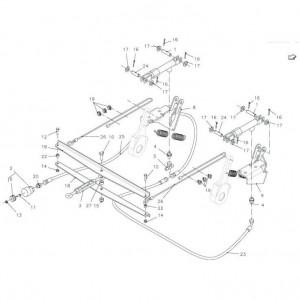 012 Hydraulische rem enkele as passend voor DEUTZ-FAHR BIGMASTER 578