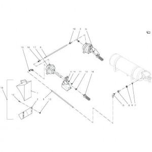 014 Pneumatische rem, enkele as passend voor DEUTZ-FAHR BIGMASTER 578