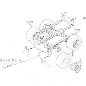 015 Frame tandem passend voor DEUTZ-FAHR BIGMASTER 578