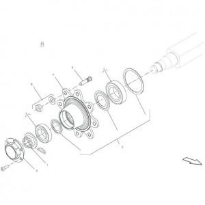 017 Vaste as, tandem passend voor DEUTZ-FAHR BIGMASTER 578