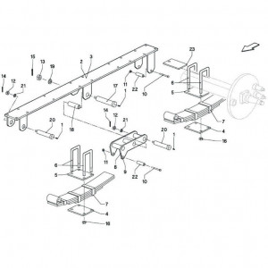 018 Veerophanging, tandem passend voor DEUTZ-FAHR BIGMASTER 578