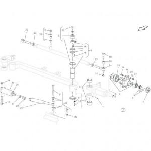 019 Stuuras, tandem passend voor DEUTZ-FAHR BIGMASTER 578