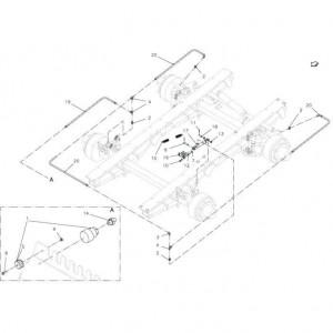 021 Hydraulische rem, tandem passend voor DEUTZ-FAHR BIGMASTER 578