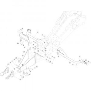 01 Trekhaakframe passend voor DEUTZ-FAHR BIGMASTER 578 FRONT