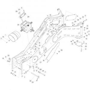 02 Frame hefinrichting passend voor DEUTZ-FAHR BIGMASTER 578 FRONT
