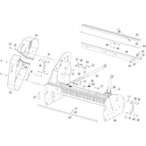 10 Frame passend voor DEUTZ-FAHR BIGMASTER 578 FRONT