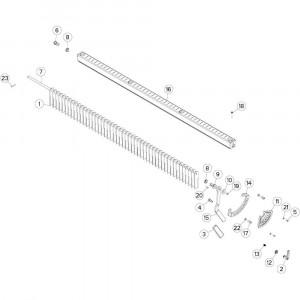 14 Messen passend voor DEUTZ-FAHR BIGMASTER 578 FRONT