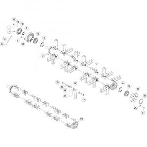 15 Rotor passend voor DEUTZ-FAHR BIGMASTER 578 FRONT