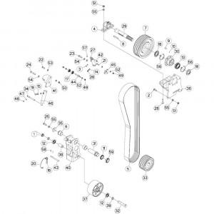 17 Aandrijving passend voor DEUTZ-FAHR BIGMASTER 578 FRONT