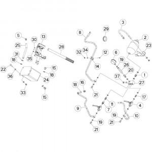 18 Hydraulisch systeem & riemen passend voor DEUTZ-FAHR BIGMASTER 578 FRONT