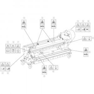 19 Stickers veiligheid passend voor DEUTZ-FAHR BIGMASTER 578 FRONT