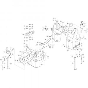 01 Verbindingsframe-uitrusting passend voor DEUTZ-FAHR CompacMaster