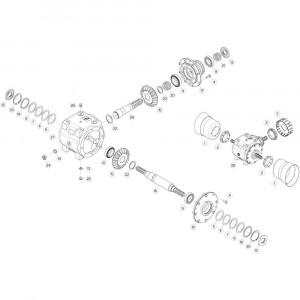 12 Lage-frictieplaten passend voor DEUTZ-FAHR CompacMaster