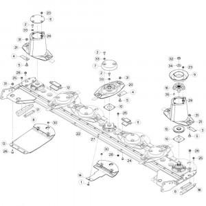 21 Vloer 14-Oc opvang passend voor DEUTZ-FAHR CompacMaster