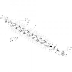 28 Aandrijving, links passend voor DEUTZ-FAHR CompacMaster