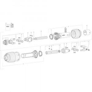 42 Aandrijving passend voor DEUTZ-FAHR CompacMaster