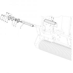 02 Aandrijving passend voor DEUTZ-FAHR RB4.60 BalePack