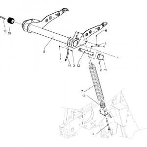 10 Riemspanner passend voor DEUTZ-FAHR RB4.60 BalePack