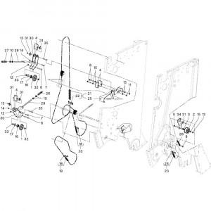 12 Aandrijfketting passend voor DEUTZ-FAHR RB4.60 BalePack