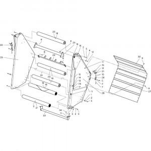 13 Achterklep passend voor DEUTZ-FAHR RB4.60 BalePack