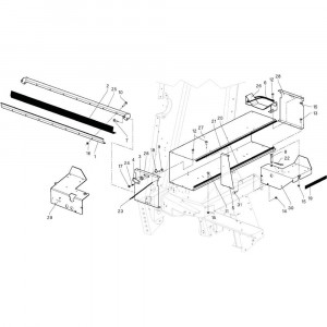 20 Bak touw passend voor DEUTZ-FAHR RB4.60 BalePack