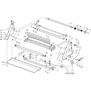 21 Steun passend voor DEUTZ-FAHR RB4.60 BalePack