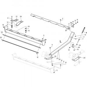 24 Geleiding passend voor DEUTZ-FAHR RB4.60 BalePack