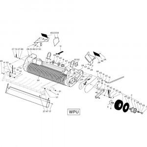 27 Aandrijving Wpu passend voor DEUTZ-FAHR RB4.60 BalePack