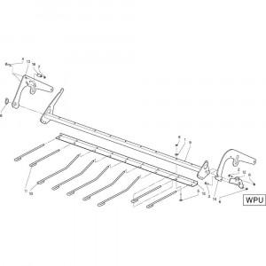 29 Gewasgeleider Wpu passend voor DEUTZ-FAHR RB4.60 BalePack