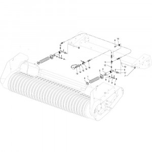 30 Cilinder Wpu opraper passend voor DEUTZ-FAHR RB4.60 BalePack