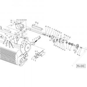 31 Opraper R+0C passend voor DEUTZ-FAHR RB4.60 BalePack