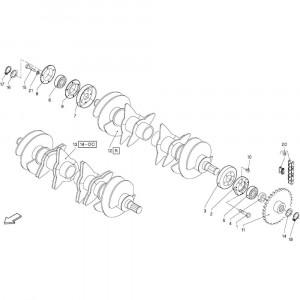 32 Verzamelrol passend voor DEUTZ-FAHR RB4.60 BalePack
