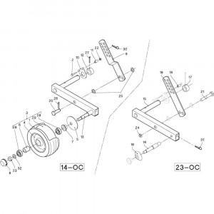 33 Meetwielen R+Oc opraper passend voor DEUTZ-FAHR RB4.60 BalePack