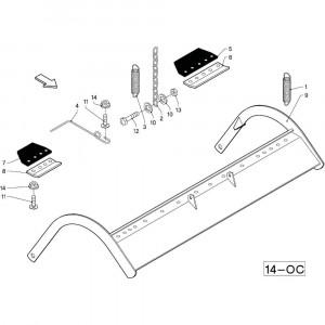 34 Gewasgeleider R+0C passend voor DEUTZ-FAHR RB4.60 BalePack