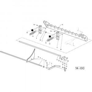 38 Frame blad passend voor DEUTZ-FAHR RB4.60 BalePack