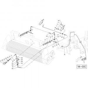 39 Cilinder Oc opraper passend voor DEUTZ-FAHR RB4.60 BalePack
