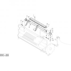 43 Geleiding passend voor DEUTZ-FAHR RB4.60 BalePack