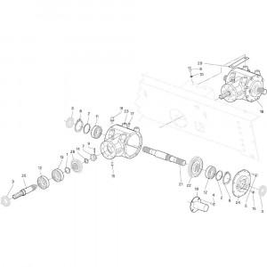 01 Conische tandwielkast passend voor DEUTZ-FAHR RB4.60 BalePack