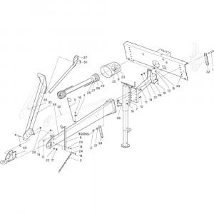 03 Verbindingsframe-uitrusting passend voor DEUTZ-FAHR RB4.60 BalePack