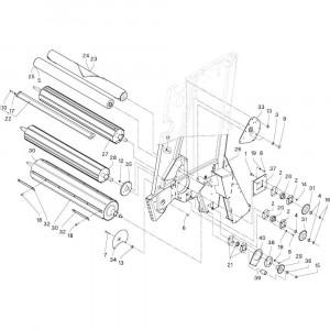 04 Rollen passend voor DEUTZ-FAHR RB4.60 BalePack