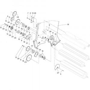 05 Rollen passend voor DEUTZ-FAHR RB4.60 BalePack