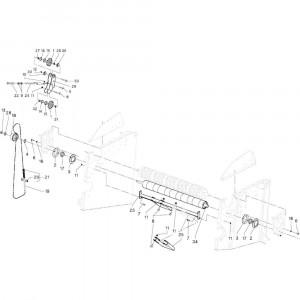 10 Rollen passend voor DEUTZ-FAHR RB4.60 BalePack