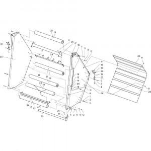 14 Riem passend voor DEUTZ-FAHR RB4.60 BalePack