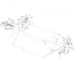 24 Beschermingen passend voor DEUTZ-FAHR RB4.60 BalePack