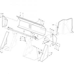 25 Geleiding passend voor DEUTZ-FAHR RB4.60 BalePack