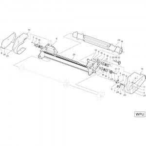 27 Tandbalk passend voor DEUTZ-FAHR RB4.60 BalePack