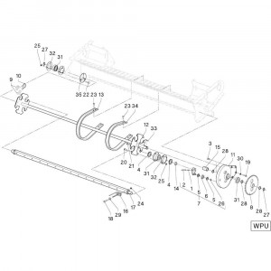 28 Aandrijving Wpu passend voor DEUTZ-FAHR RB4.60 BalePack