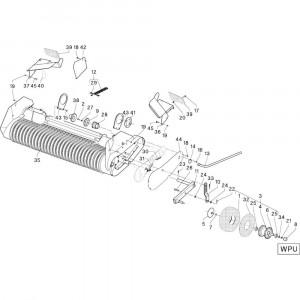 29 Geleiding zwadborden passend voor DEUTZ-FAHR RB4.60 BalePack