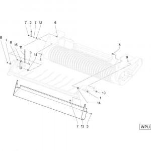 30 Gewasgeleider Wpu passend voor DEUTZ-FAHR RB4.60 BalePack